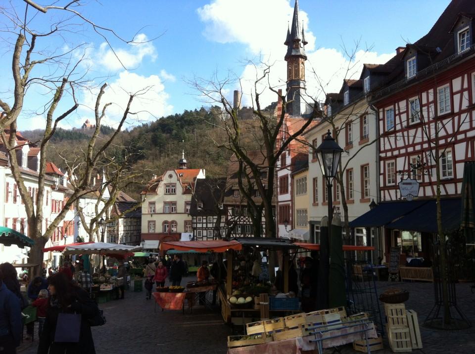 Marktplatz mit Mark in Weinheim