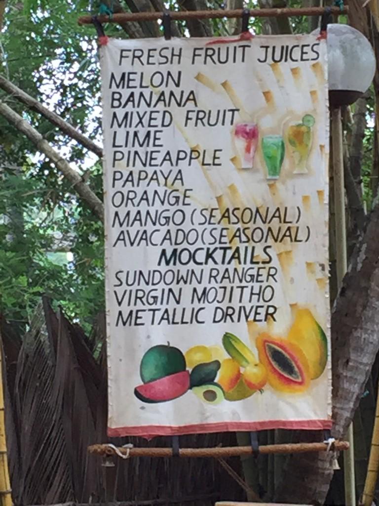 Frische Fruchtsäfte auf Sri Lanka