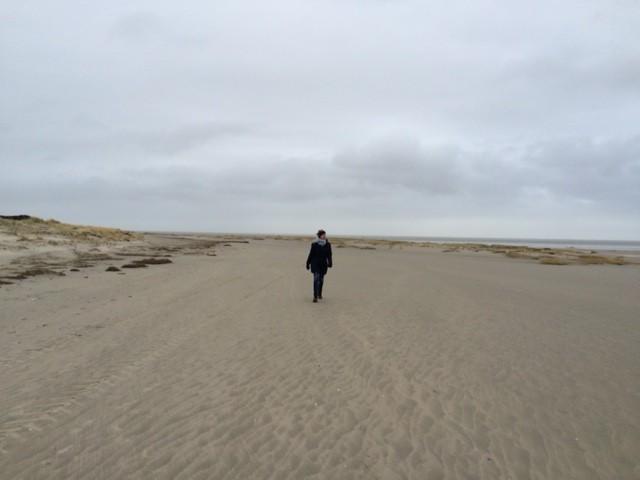 Unendliche Geschichte - Juist am Strand Januar 2015