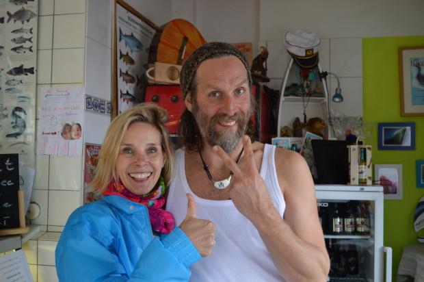 Mato und ich in Mato's Fischladen in Herrsching am Ammersee