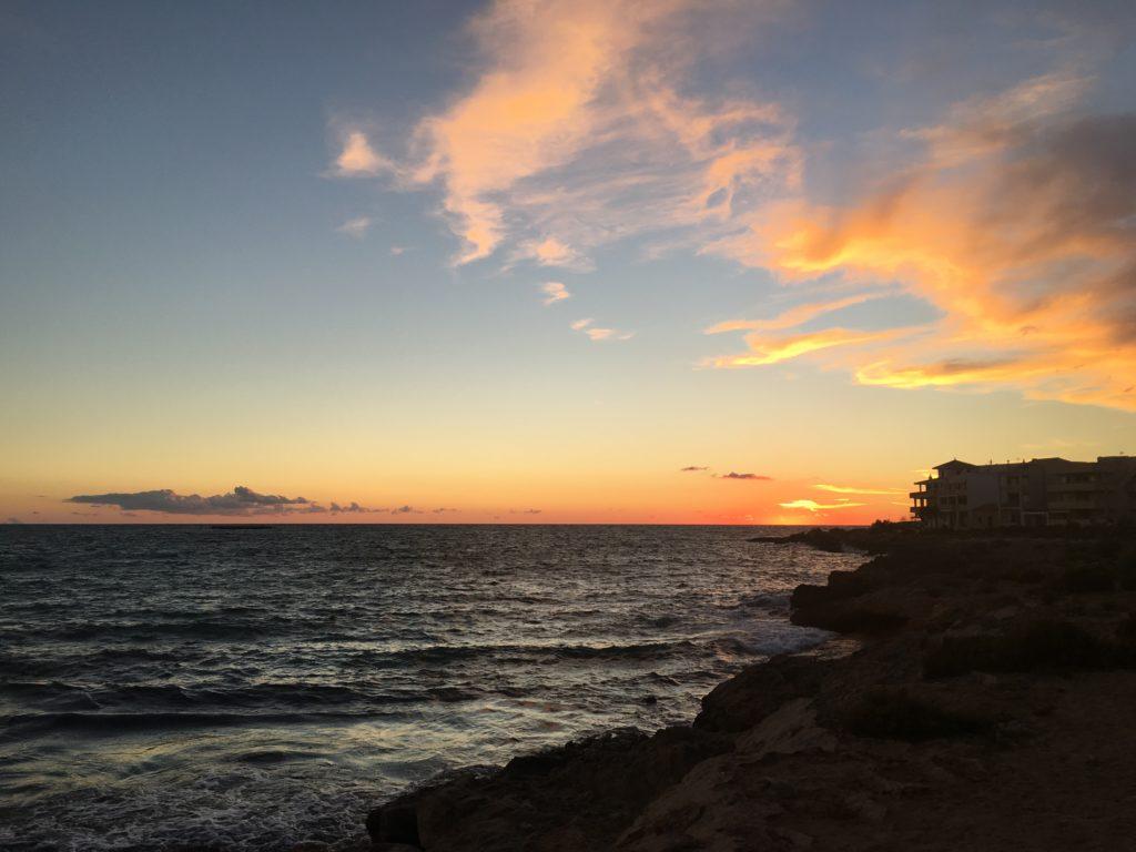 sonnenuntergang-Colonia de Sant Jordi Mallorca - Lieblingsflecken
